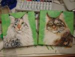 My cats on canvas by Maylara