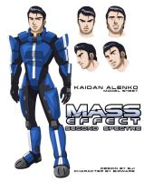 Mass Effect: Second Spectre  -- Kaidan model sheet by Eji