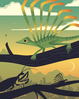 Longisquama Sunset by anatotitan