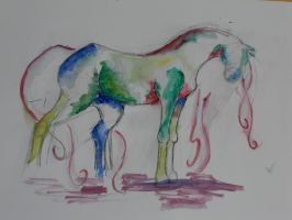 Watercolour horse by ashleighh9136