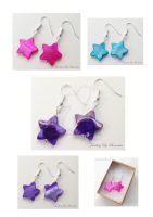 Star Shell Earrings by WhiteMagicPriestess
