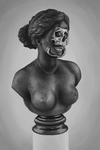 Skeleton Bust Study by the-b3ing