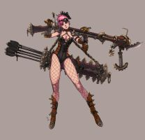 Girl with BF Ballista by dimelife