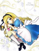 Alice in wonderland character. by x3-Paia