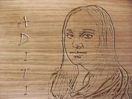 Portrait by Wood Carving by rajNdra