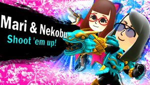 .::SSB4- Mari and Nekobu Newcomers::. by Misskatt66