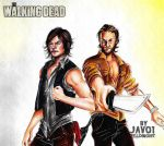 rick and daryl - the walking dead (the grixon) by zelldinchit