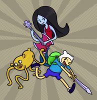 The Adventure Time Trio by anniemae04