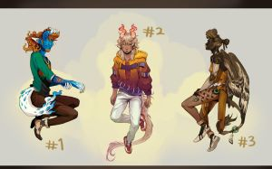 [Closed] ADOPTABLES AUCTION - Monster Lore set by HJeojeo