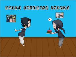 Happy Birthday Sasuke by LadyAruba