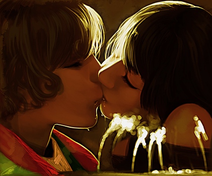 Great expectations kiss by Lavah