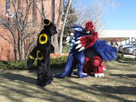 Umbreon, Shadow Lugia, and Groudon 12 by Leap207