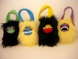 Mini Monster ipod cozies by loveandasandwich