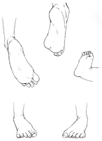 Study of Feet II by delespi