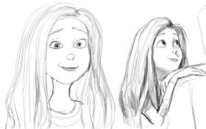 Audrey sketches by Atnica