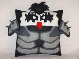 Handmade KISS Band Gene Simmons v1.43 Pillow by RbitencourtUSA