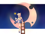 Looking at the sky... In the night~~ by Karii-Chanii