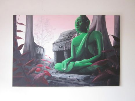 Buddha in Green by zwarback