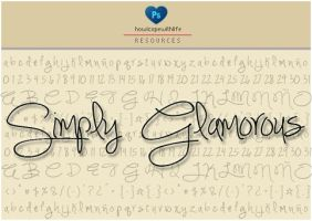 Simply Glamorous Font by friabrisa