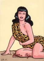 Bettie Page Sketch Card 3 by ElainePerna