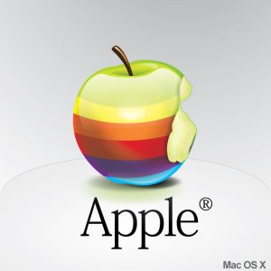 This is a cute rendering of the classic Apple logo that I found on one of the design blogs I read.
