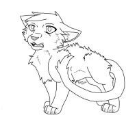 Scared Cat Line Art by wolvesforever122