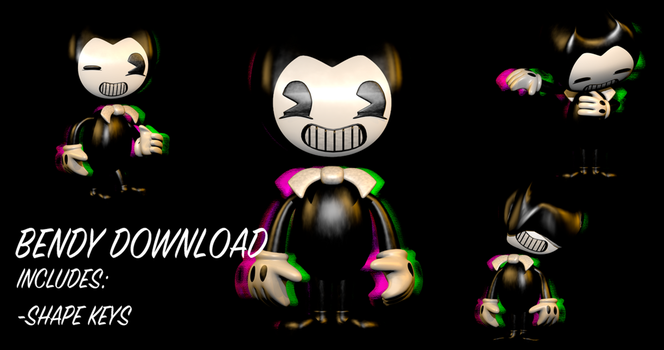 Bendy Model Release - Bendy and The Ink Machine by NeilsonDraw