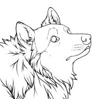 Curious Wolf Icon Lines by CrimsonWolfSobo
