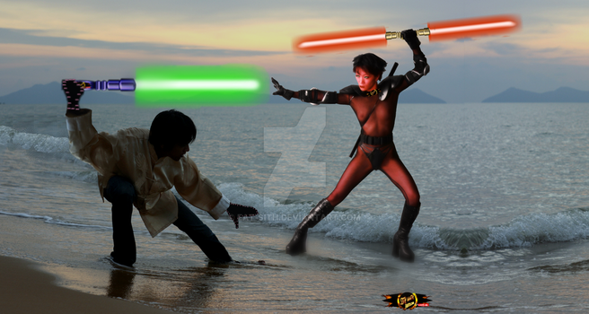 DARK LADY LI: BEACH BATTLE by Eat-Sith