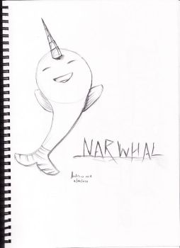 cartoon narhwal by reptile449