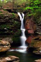 Adams Falls, Ricketts Glen SP by Mardonic