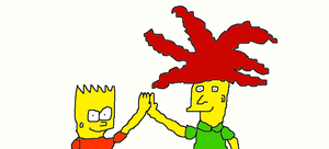 Bart and Sideshow Bob friends by Simpsonsfanatic33