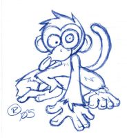 Sketchy Monkey by rongs1234