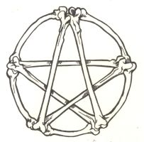 Bones Pentagram by D-Angeline