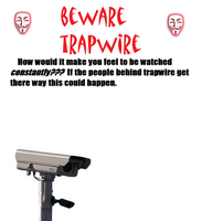 beware trapwire poster by anonymouswof123