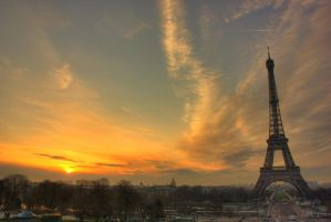 HDR - Paris - Eiffle Tower 2 by xentor38