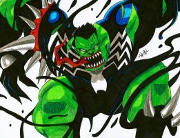 Symbiote Hulk by MikeES