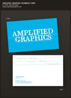Amplified Graphics BusCard by AnnaBramble