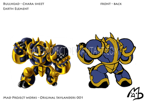 Skylanders Original: BullHead Chara Sheet FB by MAD-project