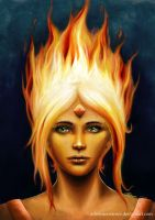 Flame Princess - Adventure Time by MapleMoth
