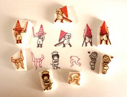 Silent Hill Stamps by mukuuji