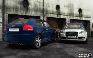 Audi Sportback - 2 by Warriorash