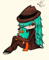 Perry and Agent P (Girl)! Completed! by MperniaxD