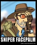 Team Fortress 2  - Sniper Facepalm by Tadeu-Costa