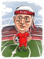 Soccer caricature by lioko83