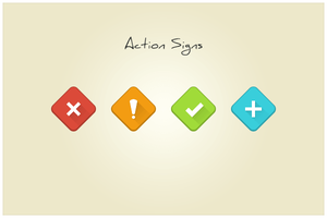 90 Action Signs (freebie by pixelcave) by pixelcave