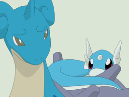 Pokemon Base 96~Lapras and Dratini 1~ by Xbox-DS-Gameboy