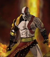 Kratos by IndioBlack619