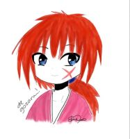Messy Himura Kenshin Doodle ( from Rurouni Kenshin by redhotcinnamontwist