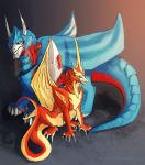 Ultra Magnus and Rodimus Dragonformers by Uniformshark